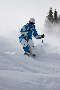 Bryon Wilson 2011 U.S. Freestyle Moguls training at Wolf Creek Photo © Eric Schramm Image may be used for editorial purposes only.