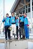Men's podium: (l-r) Ilya Burov, Timofel Slivets, Jon Lillis, Dylan Ferguson and Petr Medulich<br /> 2012 Columbia Super Contintental Cup <br /> Freestyle Aerials at the Utah Olympic Park<br /> Friday, December 21, 2012<br /> Photo: Sarah Brunson/U.S. Ski Team