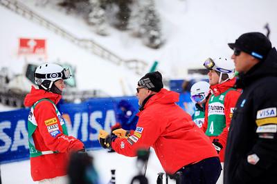 Brad Wilson and Lasse Fahlen Moguls training day  2013 VISA FIS Freestyle World Cup at Deer Valley, UT Photo: Sarah Brunson/U.S. Ski Team
