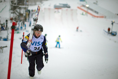 Madison Gorelik Aerials training 2013 Visa FIS Freestyle World Cup at Deer Valley in Park City, Utah Photo © Kirk Paulsen