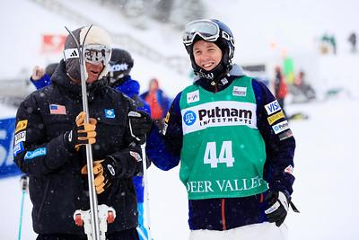 Coach Harald Marbler with Bryan Zemba Moguls training day  2013 VISA FIS Freestyle World Cup at Deer Valley, UT Photo: Sarah Brunson/U.S. Ski Team