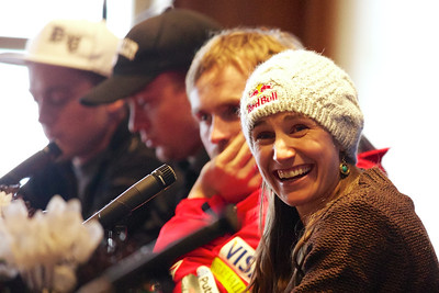 Heather McPhie Press conference for the 2013 Visa FIS Freestyle World Cup at Deer Valley in Park City, Utah Photo © Kirk Paulsen