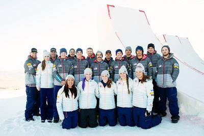 2014-15 U.S. Freestyle Aerials Ski Team - headshots and team photo