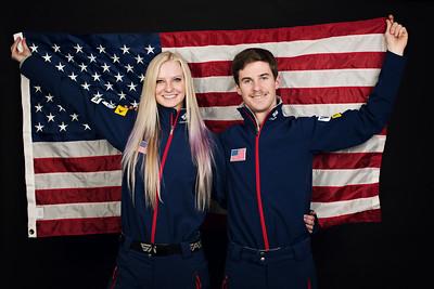 Kiley McKinnon and Mac Bohonnon 2015 FIS Freestyle Aerials Overall winners Photo: USSA