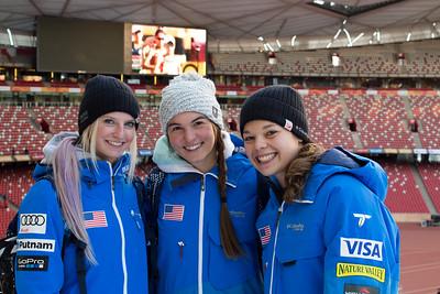 Kiley McKinnon, Madison Olsen and Ashley Caldwell FIS Freestyle Aerials World Cup - Beijing, China Photo: Greg Heuer/U.S. Ski Team
