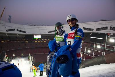 Eric Loughran and Madison Olsen FIS Freestyle Aerials World Cup - Beijing, China Photo: Greg Heuer/U.S. Ski Team