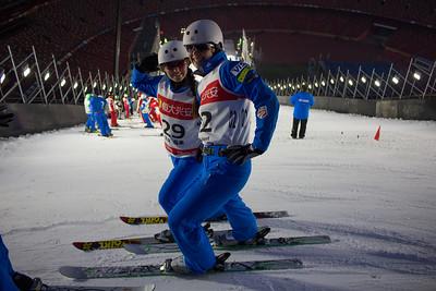 Madison Olsen and Ashley Caldwell FIS Freestyle Aerials World Cup - Beijing, China Photo: Greg Heuer/U.S. Ski Team