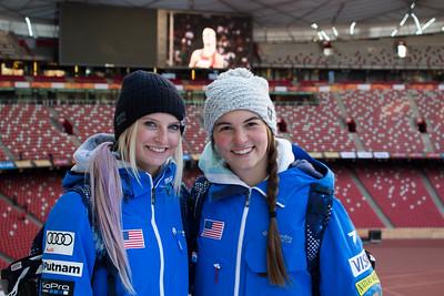 Kiley McKinnon and Madison Olsen FIS Freestyle Aerials World Cup - Beijing, China Photo: Greg Heuer/U.S. Ski Team
