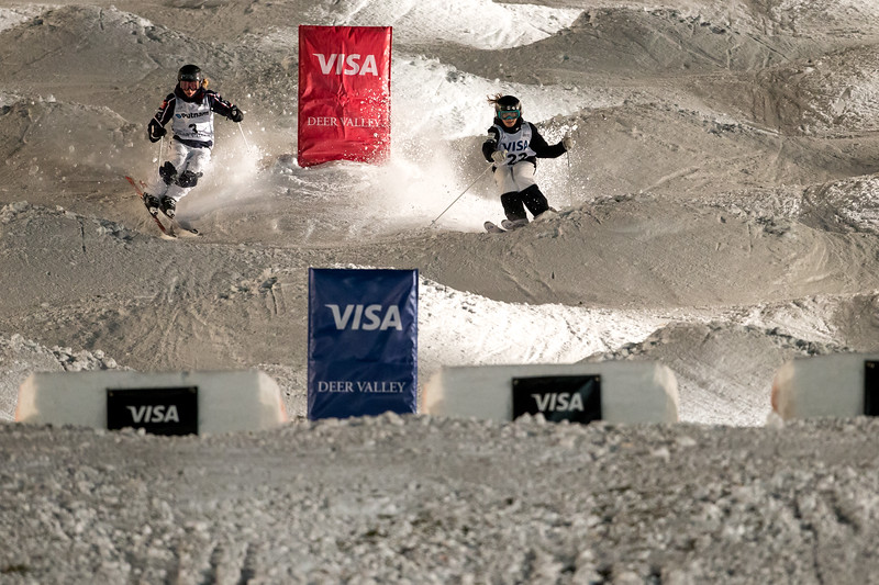 Olivia Giaccio<br /> Dual Moguls<br /> 2017 Visa Freestyle International World Cup at Deer Valley<br /> Photo © Steven Earl