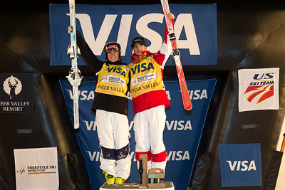Brittany Cox and Mikael Kingsbury Dual Moguls 2017 Visa Freestyle International World Cup at Deer Valley Photo © Steven Earl