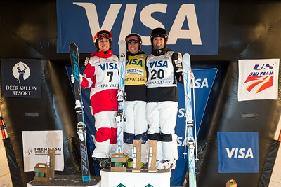 Andi Naude, Brittany Cox and Jaelin Kauf Dual Moguls 2017 Visa Freestyle International World Cup at Deer Valley Photo © Steven Earl
