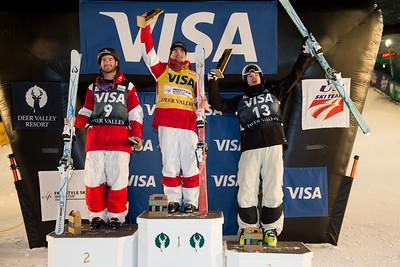 Marc-Antoine Gagnon, Mikael Kingsbury, Brodie Summers Dual Moguls 2017 Visa Freestyle International World Cup at Deer Valley Photo © Steven Earl
