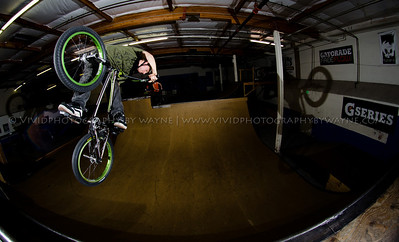 Luke Otten of Zorg Bikes throwing a turn-down on a frame he designed and built.