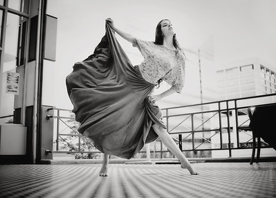 Outdoor portrait of Rachael, Boise dancer. Photo by Mike Reid.