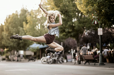 Dancer in downtown Boise. Image by Mike Reid, Boise photographer.