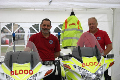 Ian Pruce (treasurer) and Allan Roberts (Riding Assessor) at Weston Bikefest