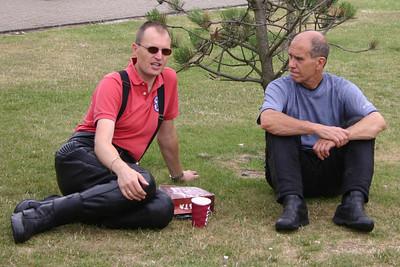 Pete Nichols and Martin Newman take 5 at Weston Bikefest