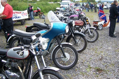 Some classic bikes on show