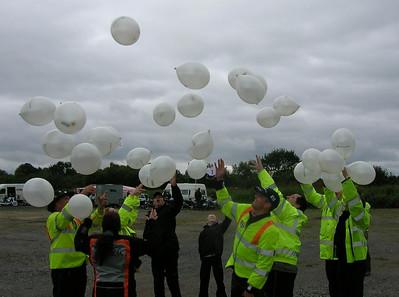 The balloon race starts