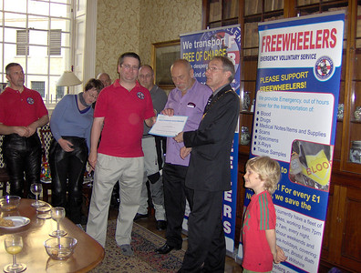Nick & John receiving our much deserved award from Councillor Bellotti