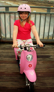 This Emily-Rose who came from Gloucester both days to show her pink bike. What a star.