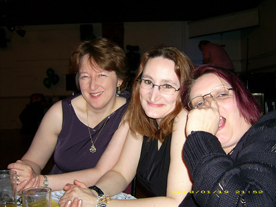 Sam, Ali and Louis, enjoying a well deserved night out after working hard in 2007