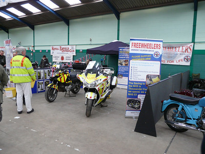 Pan-European and Deauville on the stand - all the FJR's were out on duty