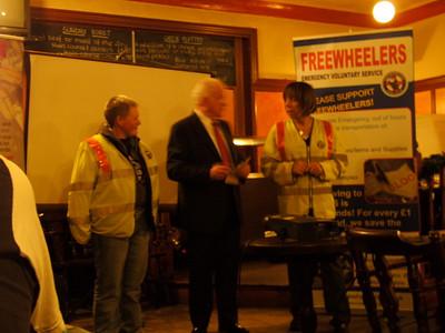 Freemasons: Cheques presentation at Bath Arms