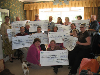 Several charities, including Freewheelers, are presented with cheques by Moose International Weston-super-Mare Lodge 55. April 19th, 2009.