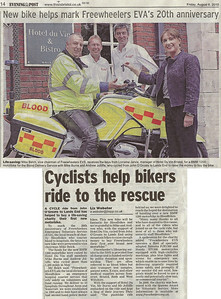 Handover of the new bike at the Hotel Du Vin in Bristol Bristol Evening Post 6th August 2010
