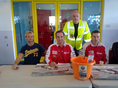 Chris Alder Rear with Carl Fogarty, Michael Rutter & Martin Jessop