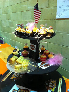 The Harley Owners Group invited all our volunteers to their stand for free coffee and cakes. Oh my, what cakes!