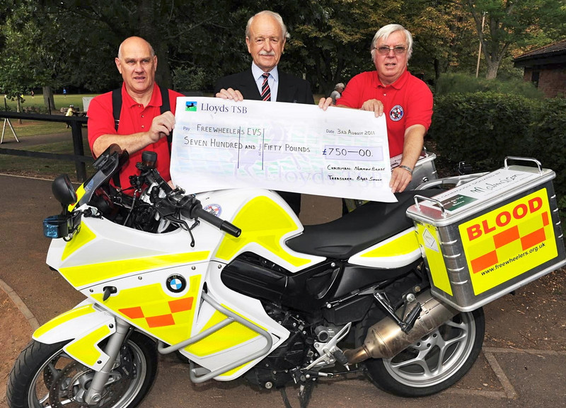 Royal Overseas League Taunton present Richard Reeves (left) and Dave Hobbs with a cheque for £750, the most that they have ever raised for a charity before.