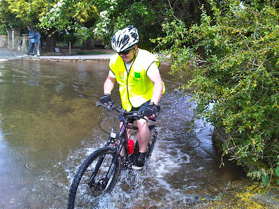 Visitors to the aptley named Bourton on the Water encouraged Aron to cycle through the Ford there, as a result he managed to raise another £15 for the cause.