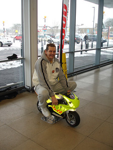 The new Freewheelers 'Mighty Mini Moto' was a big hit with young and old alike, this Big Boy was enjoying his 4th Birthday, sorry... 40th Birthday (his Mum said we could use the photo).