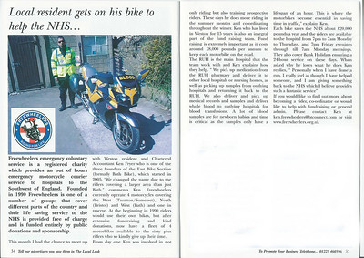Local resident gets on his bike to help the NHS - interview with Ken Fryer Local Look Bath - December 2010