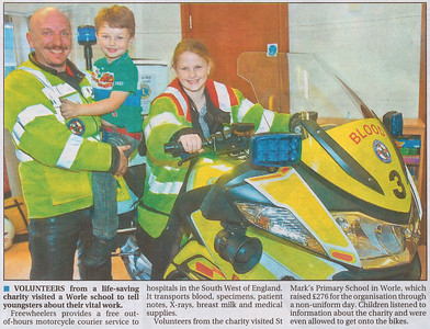 Visit to St. Mark's Primary School, Worle.  Weston Mercury  18th October 2012