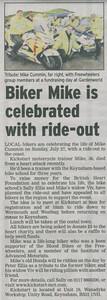 A ride in memory of former Freewheelers rider Mike Cummin July 2008