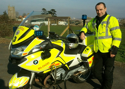 John Beer ( East Bike ) Marking the end to a fab weekend on dutie 22 calls, 450+ miles of great open roads, assisted with an RTA and ended with a call at 8pm Sun from chippingham Birthing center to collect a sample taken from a New born baby for delivery to the Path lab at the RUH Bath.What a great service freewheelers provide makes me proud to be a volunteer knowing that we do make a difference to peoples lives :-)