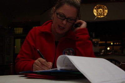 Megan Brookes (Live Coording at the monthly meeting at The Bath Arms Cheddar) Action shot by Ray Johnson
