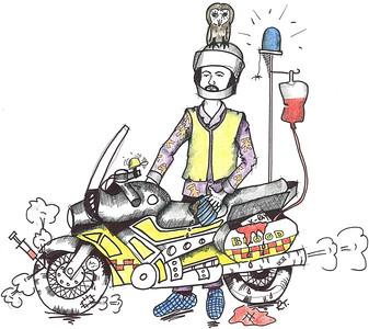 An alternative picture of rider Simon Whitelock!