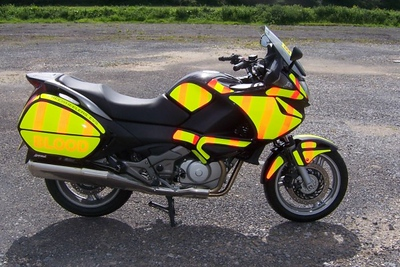 Side view of Hi-Viz decals in daylight