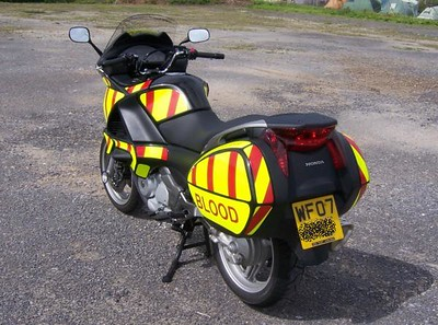 Rear view of Hi-Viz decals in daylight