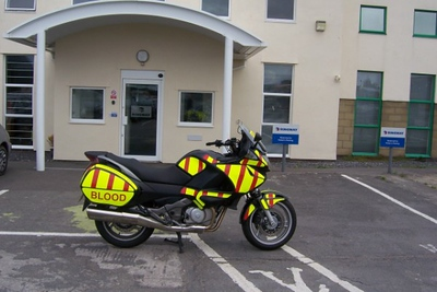 Our new Honda Deauville NT700 Training & Demo Bike. Donated to us by Regency Trust.
