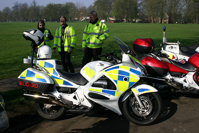 A new Honda ST1300 Pan-European being handed over to the Bristol team in Spring 2005