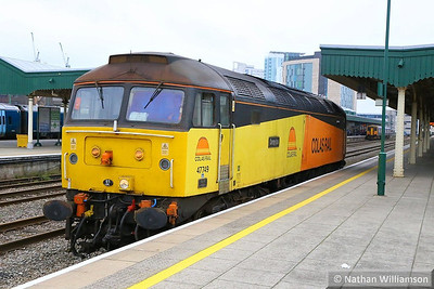 47749 calls at Cardiff Central on the: 0Z56 09:12 Westbury to Cardiff Canton  23/09/13