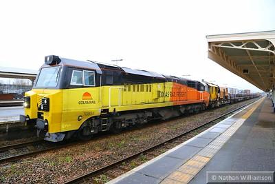 70804 calls at Taunton on: 6C29 13:20 Hackney Yard to Westbury  21/11/14