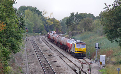 60063 stands in Haresfield Loop on the: 6B13 05:10 Robeston to Westerleigh  07/10/09