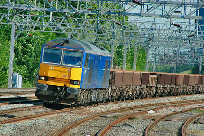 60011 heads north through Rugeley Trent Valley on the: 6K50 15:02 Toton Yard to Basford Hall  11/06/9