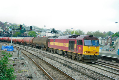60065 heads east through Newport on the: 6B13 05:10 Robeston to Westerleigh  23/04/09
